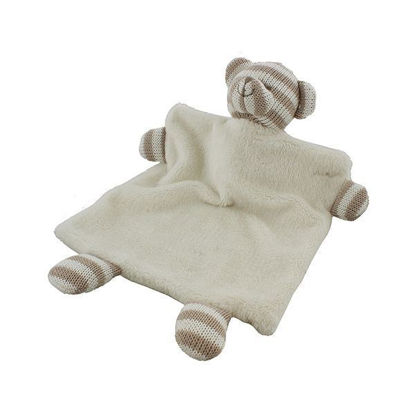 Picture of Knitted White / Grey-Striped Bear DouDou
