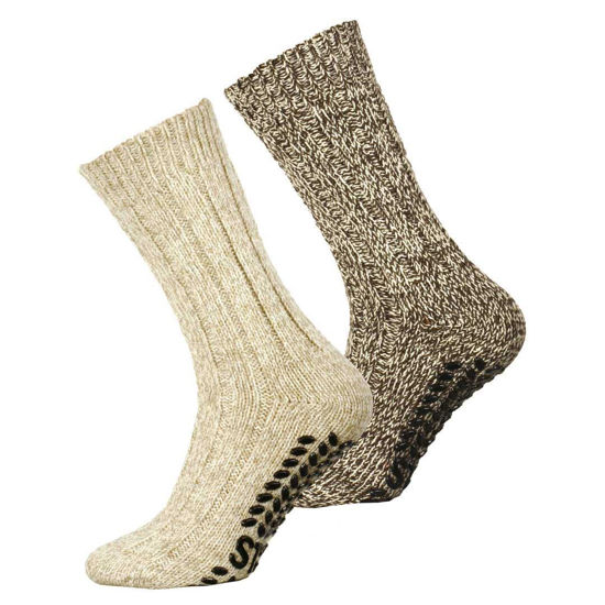 Picture of Wool Socks with Anti Slip 2-Pack