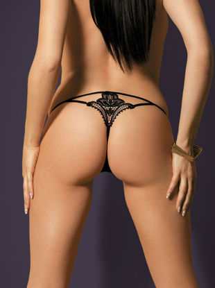 Picture of String Thong Black