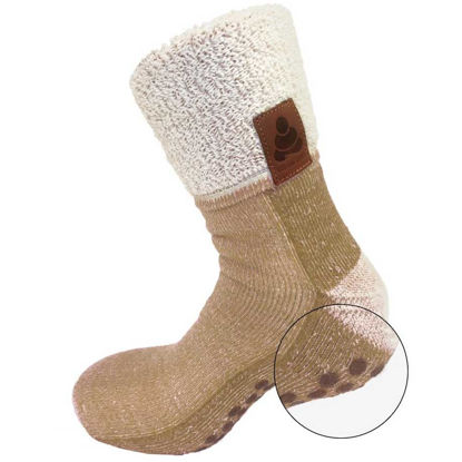 Billede af Skridsikre strømper til voksne uld